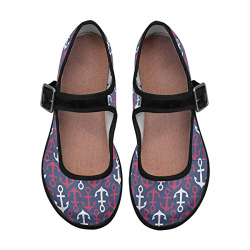 Interestprint Femmes Confort Mary Jane Appartements Casual Chaussures De Marche Multi 8