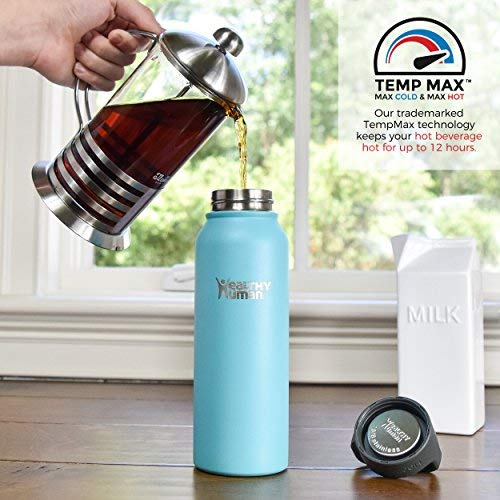 ddbaa1425 Healthy Human Insulated Stainless Steel Water Bottle Stein - - Import It All