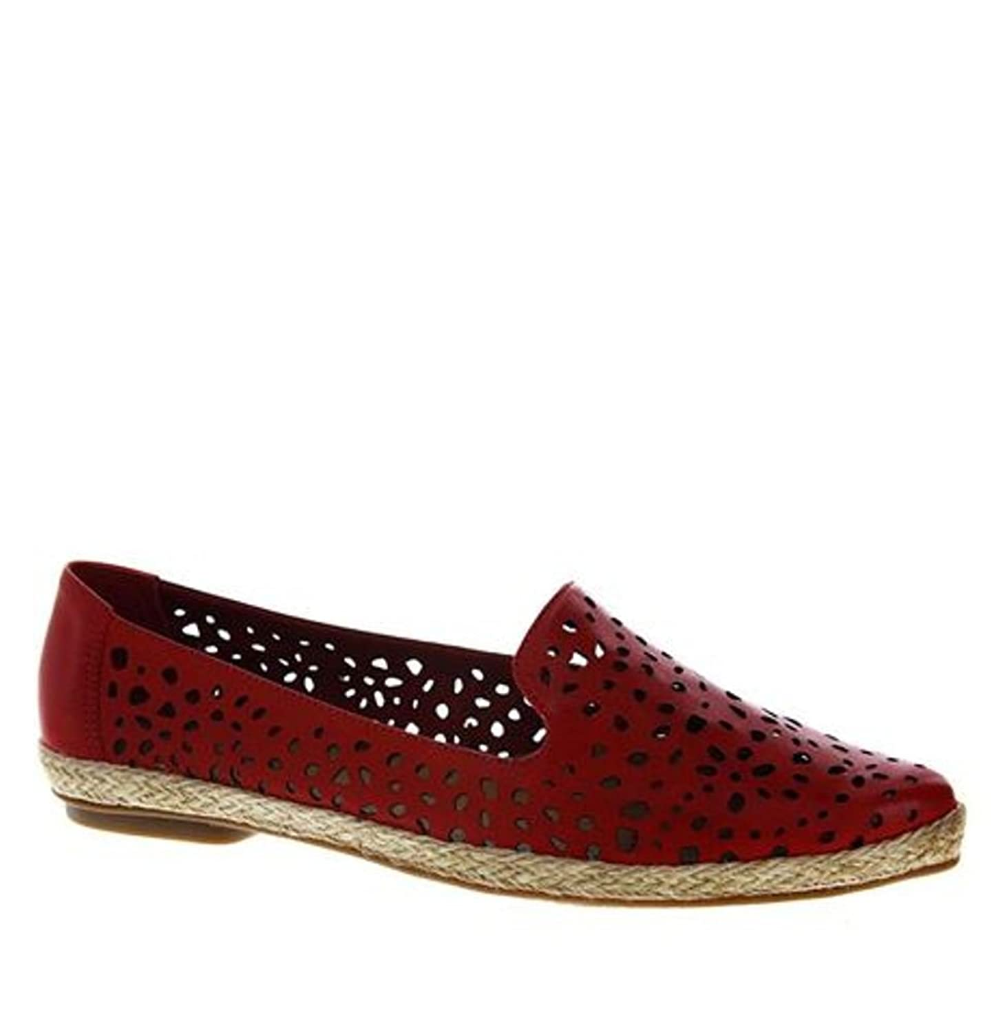 Bottero Womens Lazer Cut Leather Loafers
