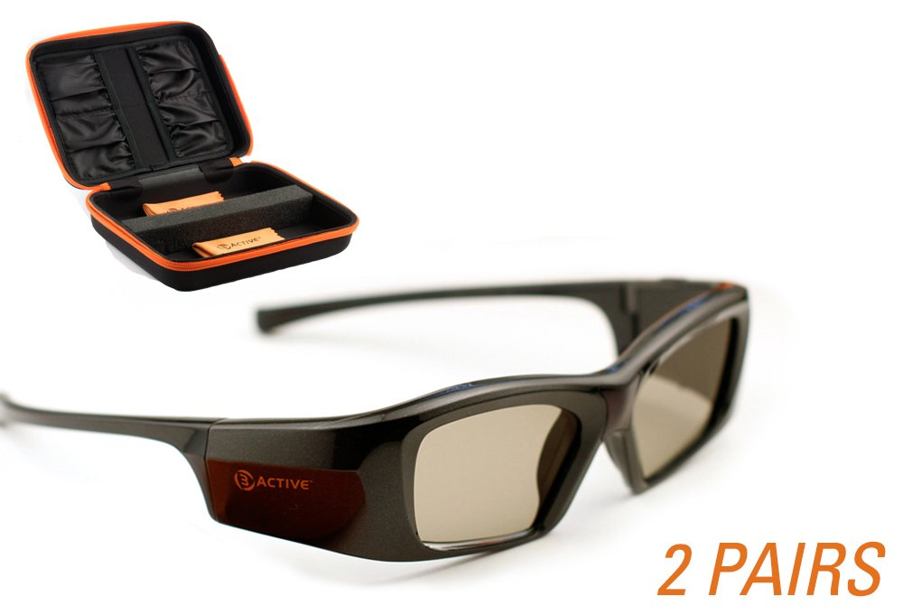 SONY-Compatible 3ACTIVE 3D Glasses. Rechargeable. TWIN-PACK by 3ACTIVE