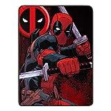 """Marvel Deadpool, """"Swordsman"""" Micro Raschel Throw"""