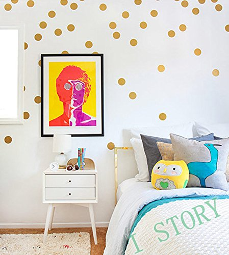 LiveGallery Removable Creative DIY Vinyl Polka Dot Wall Decals Dots Wall Stickers Murals Circles Wall art Decor Decorations Lettering for Nursery Room Living room Offices (1.6