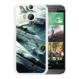 Custom Luxury Cover Case With Grumman F14 Tomcat Jet Fighters White HTC ONE M8 Case