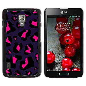 Paccase / SLIM PC / Aliminium Casa Carcasa Funda Case Cover - Purple Black Pink Bright Spots - LG Optimus L7 II P710 / L7X P714
