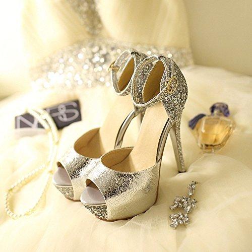 Belle Alti Fibbia Con Tacchi Golden Donna Zhznvx Scarpe I Sandali Impermeabili Da qwRfIvaU