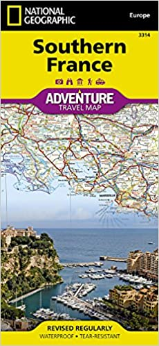 Southern France National Geographic Adventure Map National