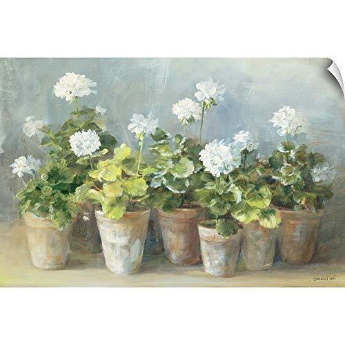CANVAS ON DEMAND White Geraniums Wall Peel Art Print, 18