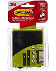 Command 17211BLK Large and Medium Picture Hanging Strip, Black