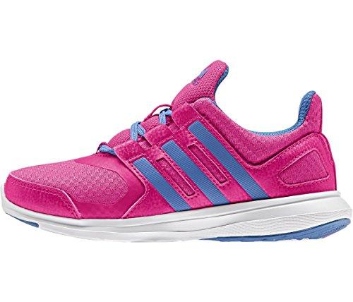 adidas Boys' Hyperfast 2.0 k Running Shoe, Black/Metallic Silver ...