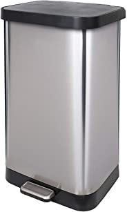 GLAD GLD-74507 Extra Capacity Stainless Steel Step Trash Can with Clorox Odor Protection of The Lid | Fits Kitchen Pro 20 Gal