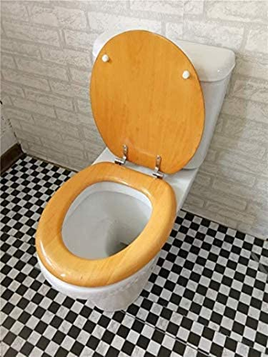 CXMMTGトイレのふた O/V/Uは、互換性のあるトイレA形状のための抗菌肥厚超耐性トイレのふたを遅くなることはありませ付き便座無垢材の便座 CXMWY-4W0Y2