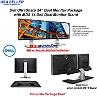 Dell UltraSharp U2415 24-inch Dual Monitor Bundle with Dell MDS14 Stand