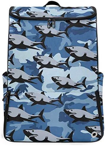 リュック メンズ レディース リュックサック 3way バックパック 大容量 ビジネス 多機能 鮫群 サメ スクエアリュック シューズポケット 防水 スポーツ 上下2層式 アウトドア旅行 耐衝撃