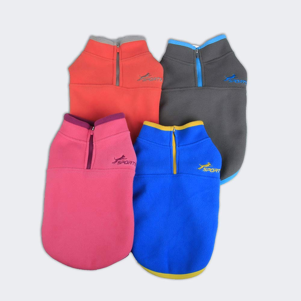 Leepets Cold Weather Fleece Dog Vest for Small Dog Half Zip Pullover Puppy Sweater Winter Warm Coat Clothes for Dog