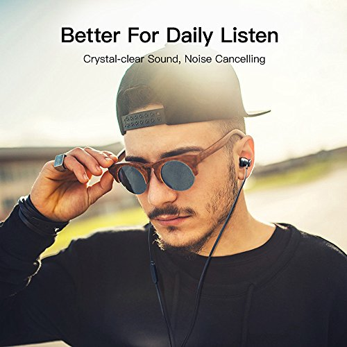 Earbuds, GGMM Headphones with Microphone Noise Isolating Headphones Earbuds Heavy Deep Bass Earphones Ear Buds, in Ear Headphones for iPhone Android Phone iPad Tablet Laptop (Black) by GGMM (Image #7)