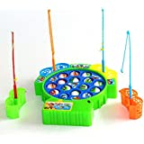 QTFHR Colorful Fishing Game Fishing Game Mini Fishing Toy, Education Toy Set for Kids