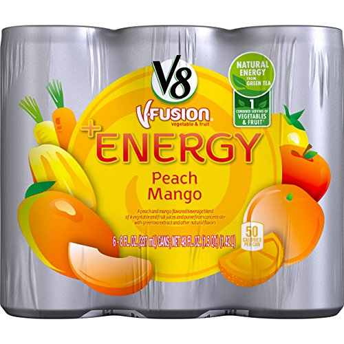 V8 Energy Peach Mango Count