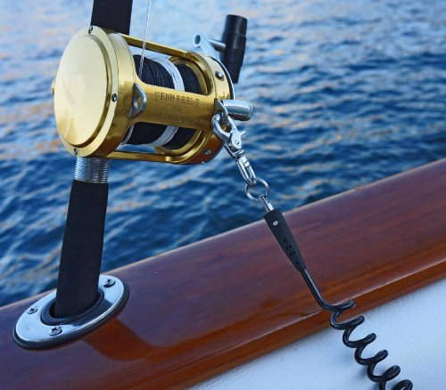 Mos equipment fishing rod coiled safety line buy online for How to get free fishing gear