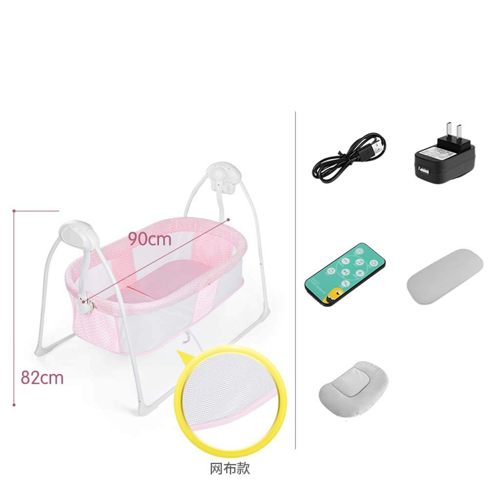 ZWQ kids Baby Electric Cradle Bed, Baby Sleeping, Baby Cradle Automatic Shaker, Smart Music, Small Shaker,B by ZWQ kids