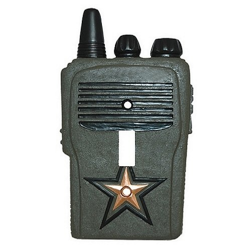 Little Star Wall Border - CAMO Military SOLDIER walkie talkie switch plate COVER