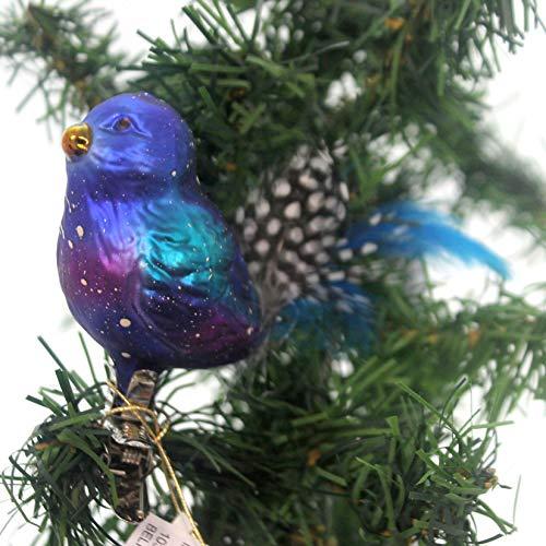 Inge-Glas BELINDA BLUEBIRD Glass Clip-On Ornament Feathers 103616