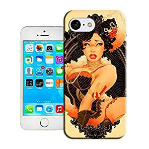 Fashion Case A boobalicious vintage babe posesse ductively in this art nouve aupinup illustration top yyGsCFAMBWM quality iPhone 5s for you case cover for sale by LeTian case cover