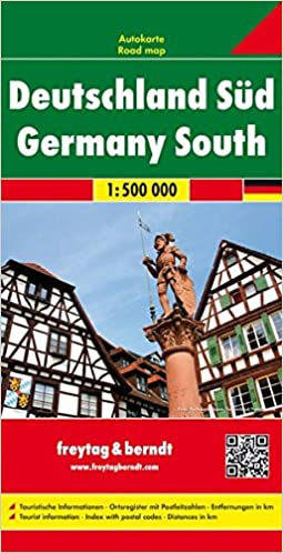 southern germany road map amazoncouk 9783850848619 books