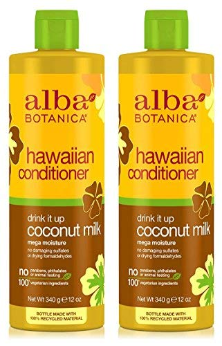 Hawaiian Conditioner Drink It Up Coconut Milk (Pack of 2) With Sunflower, Coconut, Jojoba, Aloe Vera, Pineapple, Papaya, Ginger, Macadamia Seed Oil and Calendula, 12 oz. each ()