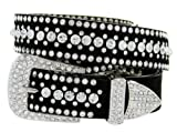 Ladies Western Rhinestone Bling Cowgirl Belt (Crystal, M(34