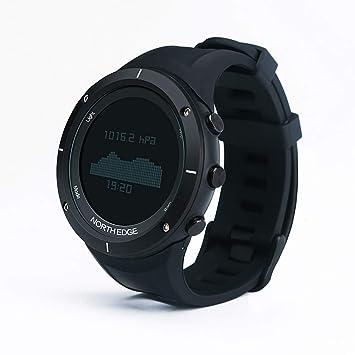 OOLIFENG Reloj Deportivo para Hombre HR, Relojes GPS para Correr con Altímetro/Barómetro/Brújula/Termómetro/Podómetro,Black: Amazon.es: Deportes y aire ...