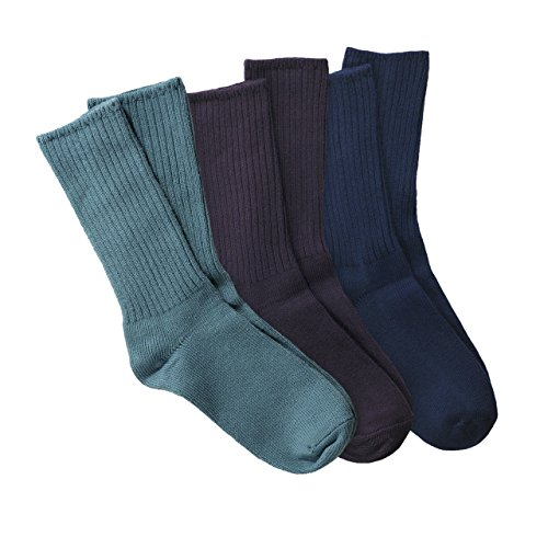 Maggie's Organic Cotton Crew Sock Tri-pack (9-11, ()