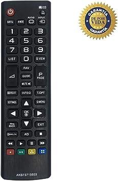 MYHGRC Nuevo Control Remoto de reemplazo para Control Remoto de TV LG AKB73715603 Ajuste para LG Smart TV con Pantalla LCD: Amazon.es: Electrónica