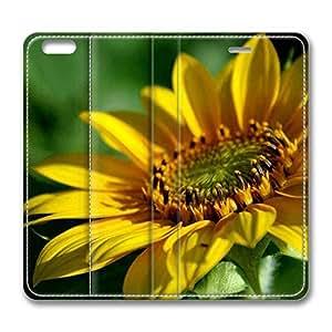 Brain114 6 Plus, iPhone 6 Plus Case, iPhone 6 Plus 5.5 Case, Sunflower 2 PU Leather Flip Protective Skin Case for Apple iPhone 6 Plus 5.5