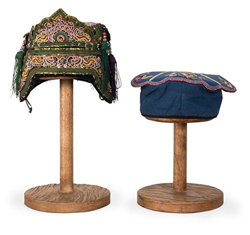 Sarreid SA-092 Pair of Antique Hats, 20'', Blue/White by Sarreid