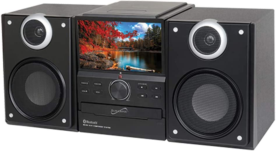 SuperSonic - Hi-Fi Audio Micro System with Bluetooth andDVD Player, Bluetooth Micro Systems - Black (SC-857D)