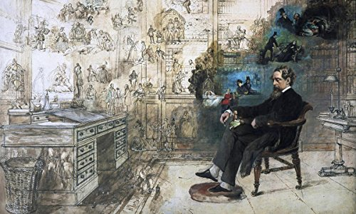 Gifts Delight Laminated 35x21 Poster: Charles Dickens - Dreams of Dickens, Wagner, and Van Gogh and - Den Charles Van