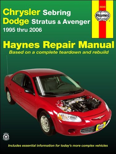 Chrysler Sebring & Dodge Avenger 1995-2006 Repair Manual (Haynes Repair Manual)