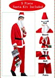 Christmas Costume Velvet Santa Claus Costume Suit For Adult Men Party Cosplay 028