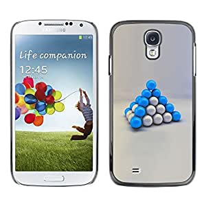 LECELL -- Funda protectora / Cubierta / Piel For Samsung Galaxy S4 I9500 -- Blue Balls --