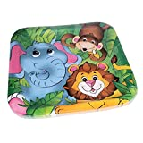 ZOO ANIMAL SQ DINNER PLATES (8 PIECES)