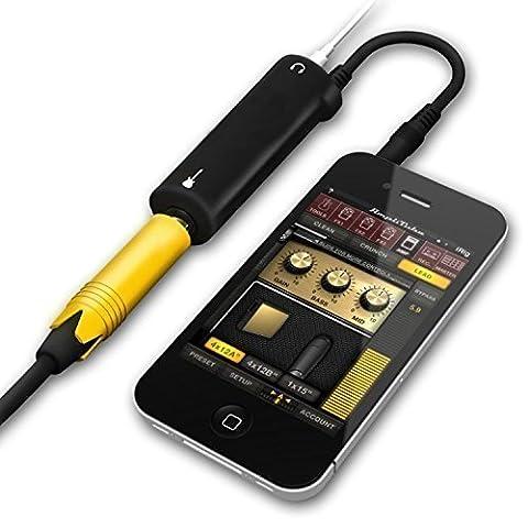 IRig Guitar Adapter Interface AmpliTube iRig guitar interface adaptor for iOS devices (Color: (Midi To Headphone Jack)