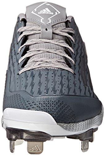 adidas Performance Herren PowerAlley 3 Baseballschuh Onix / Grau Metallic / Weiß
