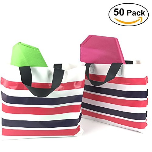 sesco-12x16-extra-thick-striped-plastic-handle-merchandise-bags-with-gusseted-pack-of-50