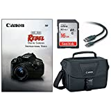Canon DSLR Camera Accessory Bundle with Gadget Bag/EOS Rebel DVD/16GB SD Card/HDMI Cable