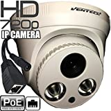 Network ip Camera ventech with video and power over cat5 720P POE (Power Over Ethernet ) indoor Home Security Surveillance Cam,Night Vision big ir led Stabler Connection Compared Wifi