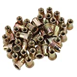 Pack of 100 M3 Flat Head Rivet Nut Length 0.9cm/0.35 inch inner diameter 0.5cm/0.2 inch