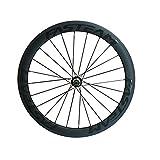 Fasteam 50mm 700C Carbon Wheels Road Bike Clincher Wheelset for Shimano 10/11 Speeds
