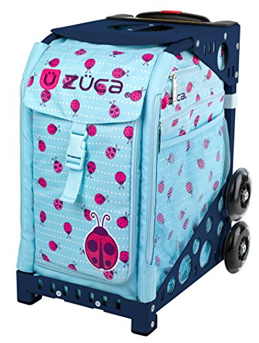 Zuca Ladybugz Sport Insert Bag and Navy Blue Frame with Flashing Wheels by ZUCA