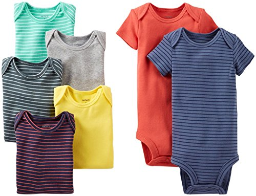 Carter's Baby Boys' 7 Pack Bodysuits (Baby) - Assorted Solids - Assorted-ST - Newborn