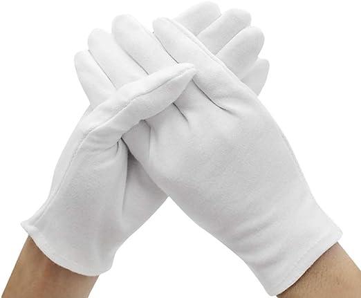 Kentop 12 pares de guantes de algodón blanco Care guantes de ...